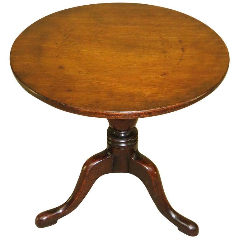 19th Century Mahogany Miniature Tripod Table