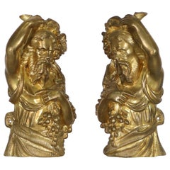 French Neoclassical Bronze Ormolu Finials