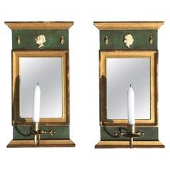 Early 20th Century Pair of Gustavian Wall Sconces by Kurt Ekvall