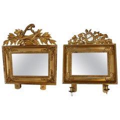 19th Century Pair Of Swedish Gilded Mirrors