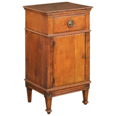 French 1840s Louis-Philippe Walnut Bedside Cabinet with Single Drawer and Door