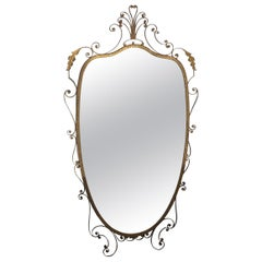 20th Century Oval Mirror From Italy