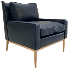 Paul McCobb for Directional Model 302 Lounge Chair in Loro Piana Bufalo Leather