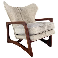 Adrian Pearsall Model 2466-C Lounge Chair Restored in Brazilian Cowhide