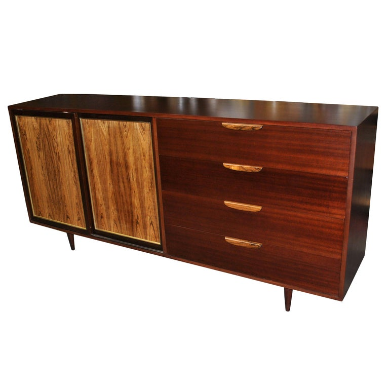 Vintage Rosewood Mahogany Harvey Probber Credenza For Sale