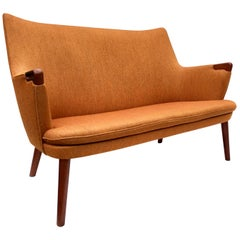 Hans Wegner Teak AP20 Mini Bear Loveseat Sofa