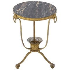 19th Century French Gilt Bronze and Marble Side Table