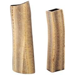 Pair of R & Y Augousti Snake Clad Vases