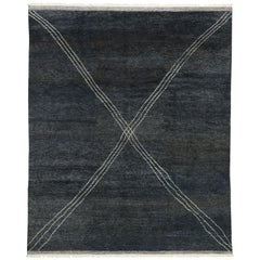 New Contemporary Moroccan Area Rug with Luxe Modernist Style