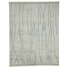 New Contemporary Moroccan Area Rug with Modernist Abstract Style
