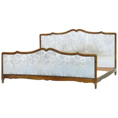 Antique French Bed US King plus UK Emperor includes Recover Customize Louis Rev
