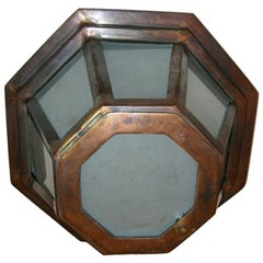Set of Octagonal Flush Mounted Fixtures, Sold Individually
