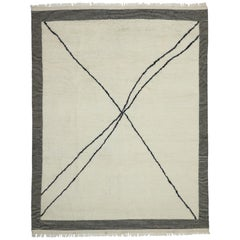 New Contemporary Moroccan Area Rug with Modernist Bauhaus Style