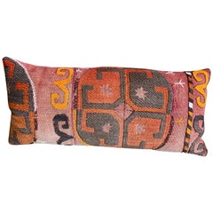 Custom Pillow cut from Antique Handwoven rug