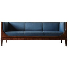 Rare Frits Henningsen Box Sofa, Denmark, 1940s-1950s - recovering required