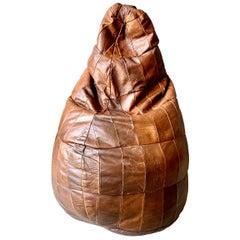 De Sede Leather Patchwork Bean Bag