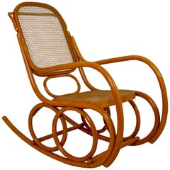 Midcentury Bentwood Rocking Chair, Austria, 1950s