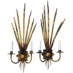 Pair of Large Ferrocolor Sconces