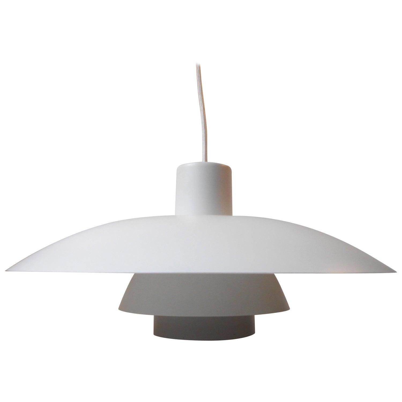 Vintage White PH 20/20 Pendant Lamp by Poul Henningsen, Louis Poulsen, circa  20