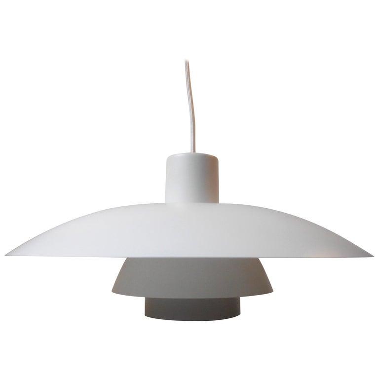 Vintage White PH-4/3 Pendant Lamp by Poul Henningsen, Louis Poulsen, circa 1970 For Sale