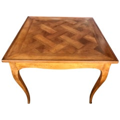 Vintage Fruitwood Game Table Made in Italy