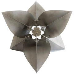 Contemporary Stainless Steel Geometric Bugambilia Modular Sculpture