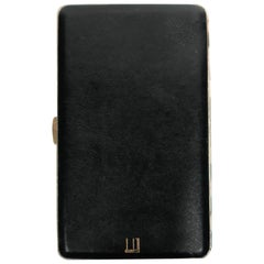 Dunhill Black Leather and Brass Cigarette Holder Case