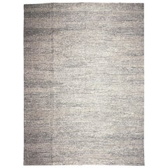 Modern Turkish Flat-Weave Hemp Rug