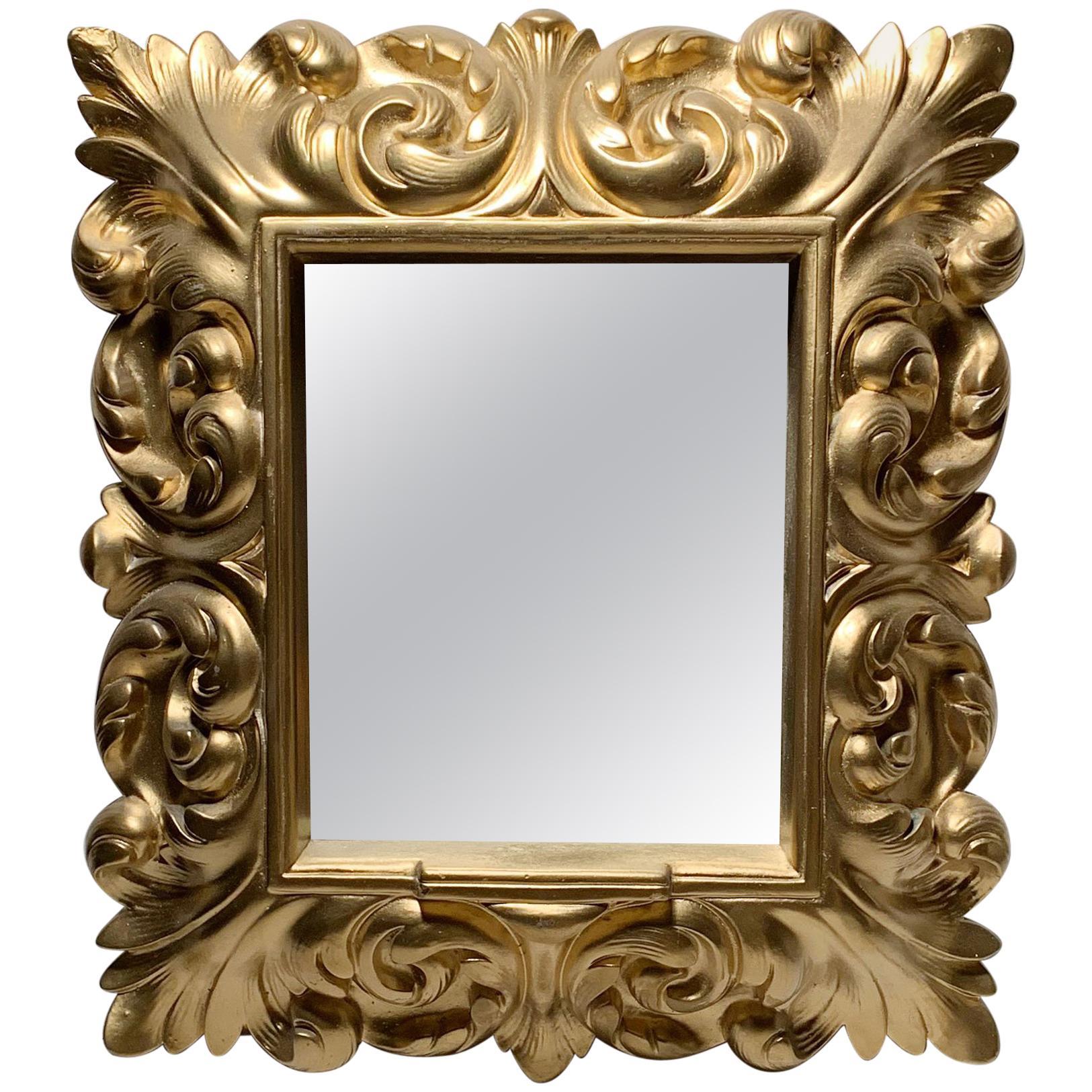 Plaster Wall Mirror Hollywood Regency