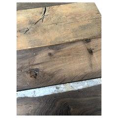Original French Antique Solid Wood Oak Flooring, 18th Century, France