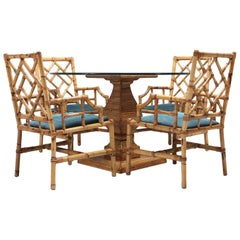 Tropicalist Bamboo Dining Suite, 1970s