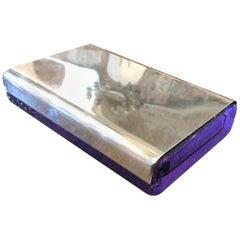 Joe Colombo for Arnolfo di Cambio Silver and Crystal Biglia Cigarette Box, 1968