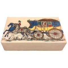 Fornasetti Mid-Century Modern Card Box, circa 1950
