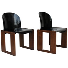 """Two Afra and Tobia Scarpa """"Dialogo"""" Chair for B&B Italia, 1970s"""