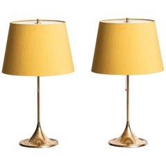 Table Lamps Model B-024 in Brass Produced by Bergbom in Sweden