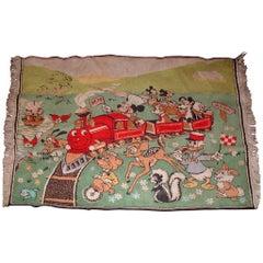 Vintage Walt Disney Mickey Mouse Wool Rug