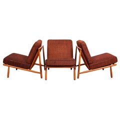Midcentury Alf Svensson Easy Chairs by DUX, 1950s