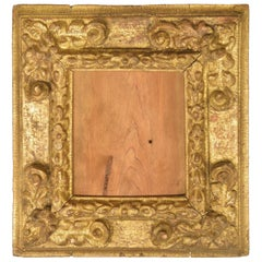 Frame, Carved and Gilded Wood, Inscription, 17th Century
