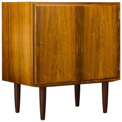 Midcentury Danish Small One Door Rosewood Sideboard by Carlo Jensen for Hundev