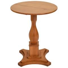 Round Cherrywood Biedermeier Side Table, South Germany, Circa 1820