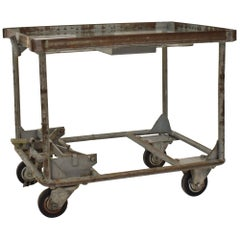 1950s Industrial Bar Cart or Sofa Table