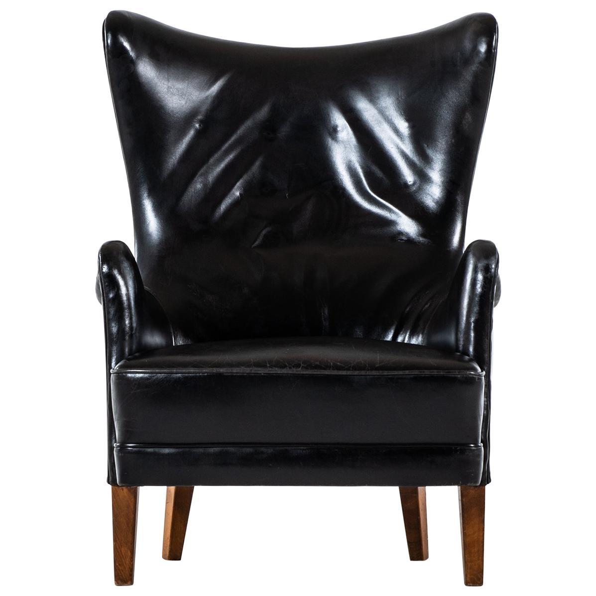 Frits Henningsen Easy Chair from 1935 Produced in Denmark
