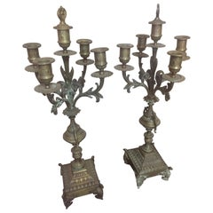 Early 20th Century French Bronze Candelabra, 1900s