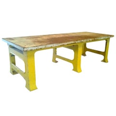 Industrial Huge Iron French Aviation Work Table