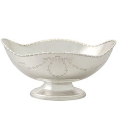 Antique George V English Sterling Silver Fruit Dish