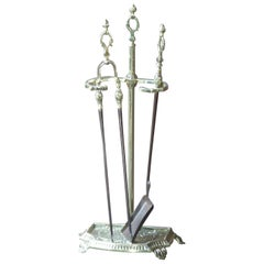 French Napoleon III Fireplace Tools or Fire Tools
