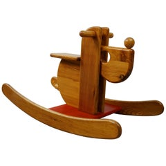 "Solid Wood Rocking Horse ""Dog"" Made in France"