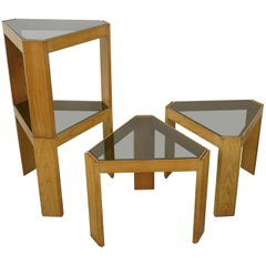 1970s Italian Design Set of 4 Modular Tables from Porada Arredi