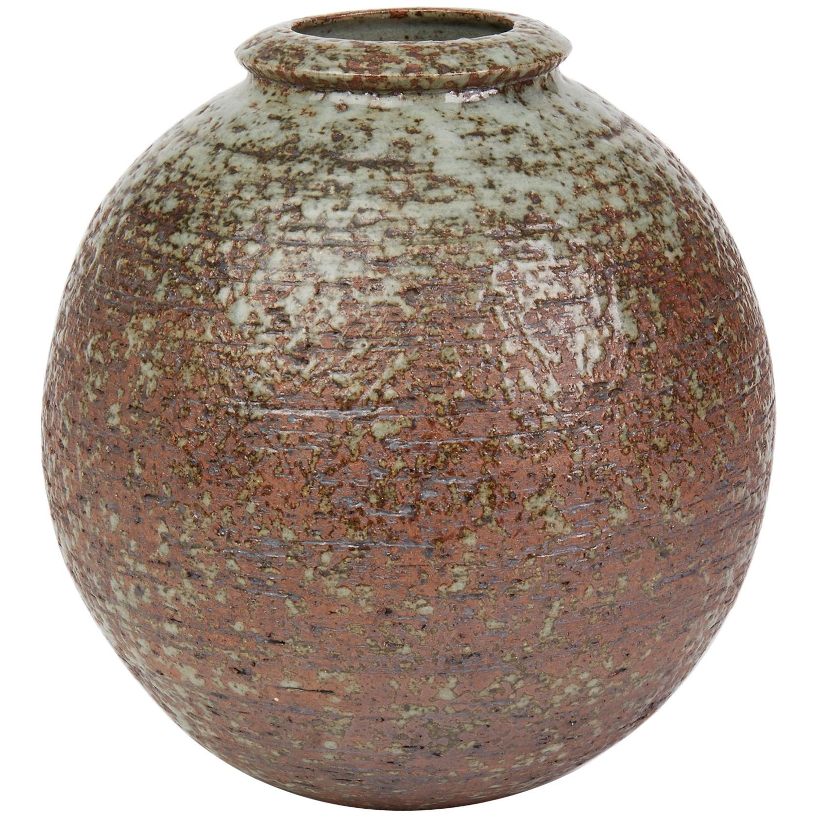 Vintage Scandinavian Grey Glazed Studio Pottery Vase, 20th Century