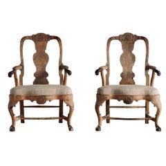 18th Century Rococo Armchairs